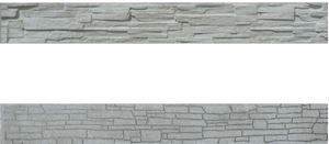 Obrázek z Betonová plotová deska - sokl, oboustranná, štípaný kámen 200 x 25 x 4,5 cm
