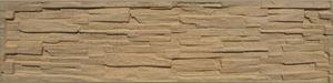Obrázek z Betonová plotová deska pískovec, jednostranná, štípaný kámen 200 x 50 x 4,5 cm